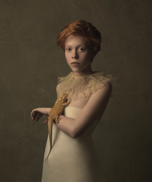 , 'Girl with the Bearded Dragon,' 2015, SmithDavidson Gallery