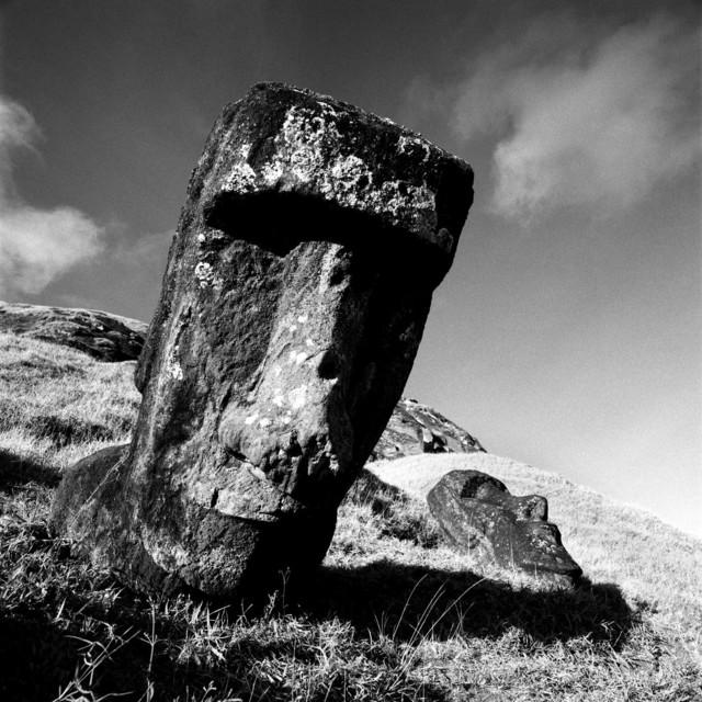 , 'Moai at Ranku Ranuku, Rapu Nui -1 - Easter Island,' , Atlas Gallery