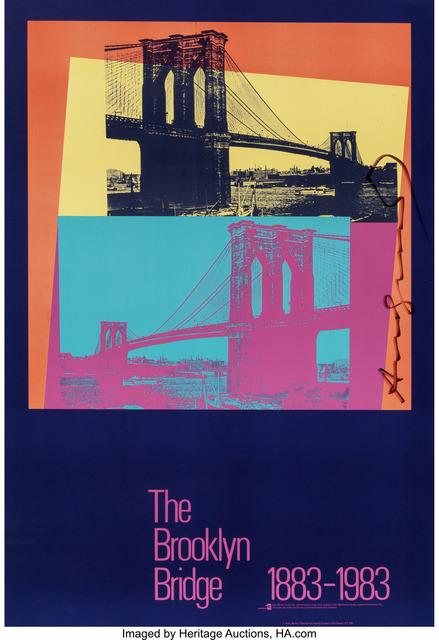 Andy Warhol, 'The Brooklyn Bridge Poster', 1983, Print, Screenprint in colors on paper, Heritage Auctions