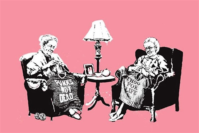 Banksy, 'Grannies', 2006, Castle Gallery