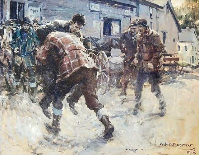 William Henry Dethlef Koerner, 'Good Scrap in Sawdust Town', 1918, The Illustrated Gallery