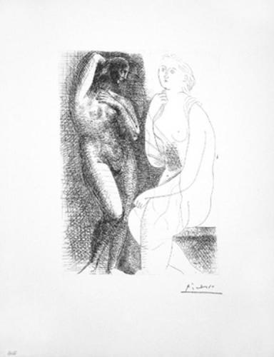 Pablo Picasso, 'Femme Nue Devant Une Statue', 1931-Suite Vollard, Madelyn Jordon Fine Art