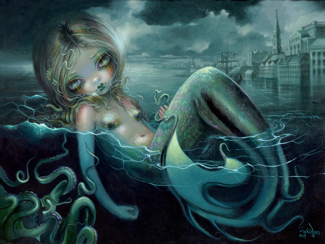 Jasmine Becket-Griffith, 'Innsmouth Mermaid', 2019, Corey Helford Gallery