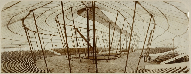 , '[Barnum and Bailey Circus Tent in Paris, France],' 1901-1902, J. Paul Getty Museum