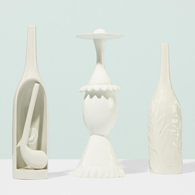 Gio Ponti, 'Three works from Le Bottiglie Abitale series', c. 1990, Wright