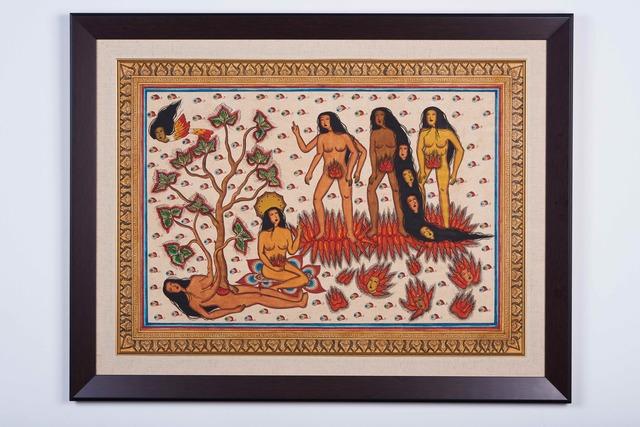 Citra Sasmita, 'Under The Tree ', 2020, Painting, Acrylic on Traditional Kamasan Canvas, Yeo Workshop