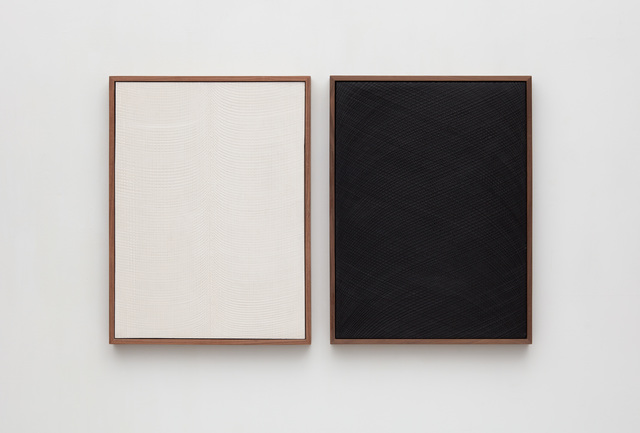 , 'Untitled (Diptych Etched Plaster),' 2018, Jason Haam