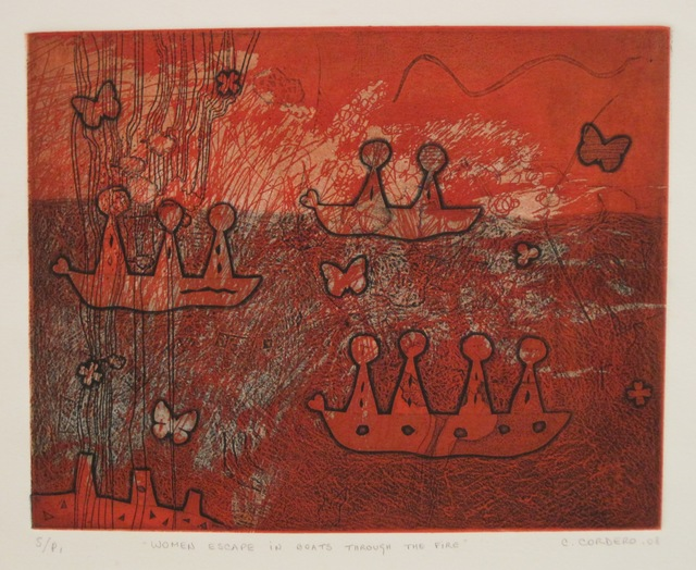 , 'Women escape in boats through the fire,' 2008, The Art Vault