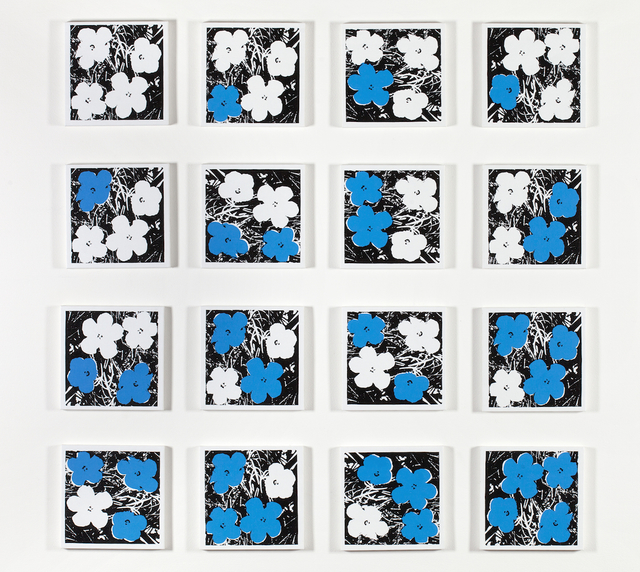 , 'Andy Warhol, 'Flowers,' 1965, White-Blue, 16 Variations,' 2011, Castelli Gallery
