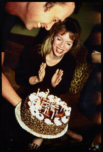 """Nan Goldin, 'Joey with her """"She's free"""" cake', 1997, Drawing Room"""