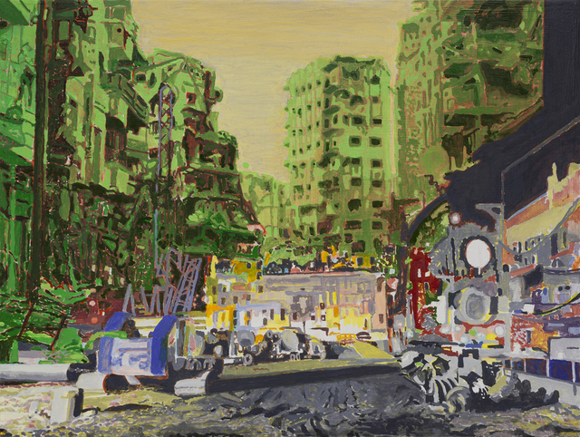 , 'Distortion 16 (City at Night),' 2018, Bert Green Fine Art