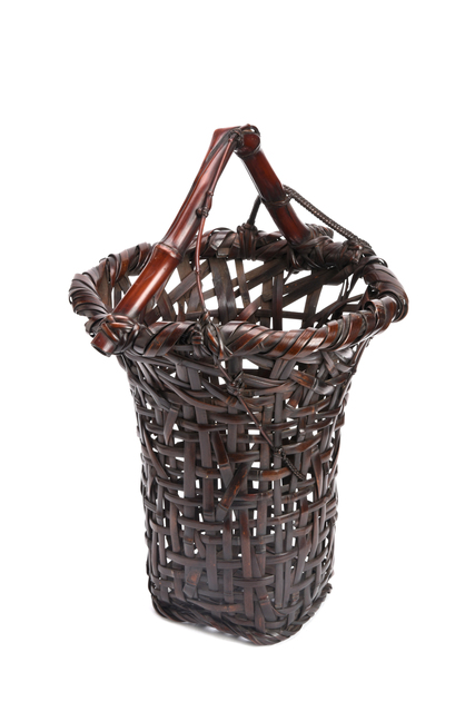, 'Spayed Flower Basket with Natural Bamboo Handle,' 1877-1937, Yumekoubou Antique