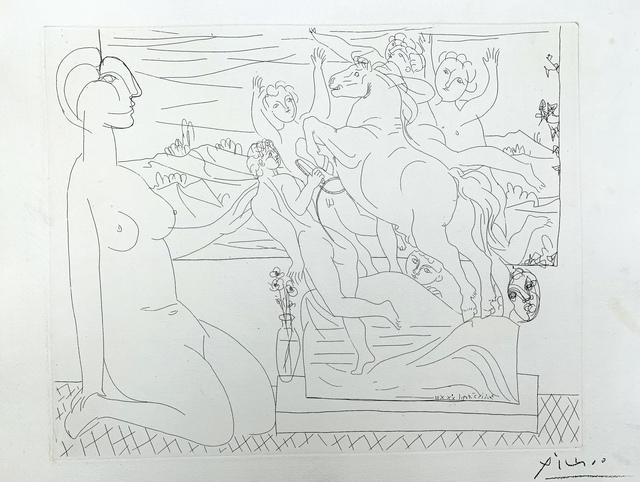 Pablo Picasso, 'Modèle contemplant un Groupe sculpté ', 1933, Van der Vorst- Art