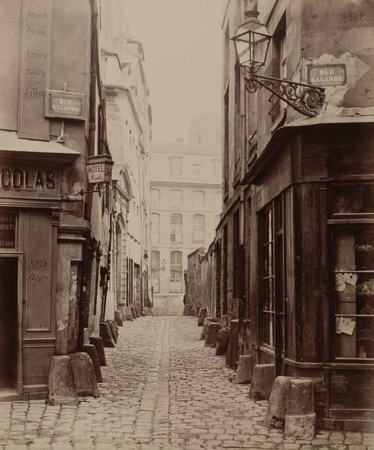 Charles Marville, 'Rue Saint-Julien-le-Pauvre de la Rue Galande', ca. 1865, Photography, Albumen silver print from wet collodion on glass negative, Robert Koch Gallery