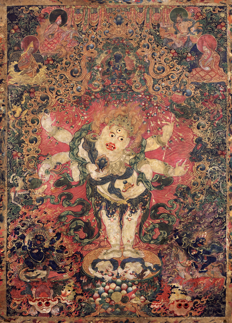 , 'Six-armed White Mahakala,' Late 18th century, Rubin Museum of Art