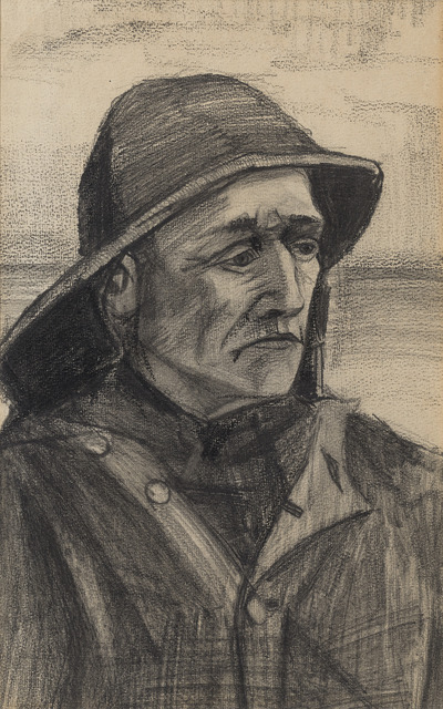 , 'Head of a Fisherman, Turned Three-quarters to the Right,' ca. 1883, M.S. Rau Antiques
