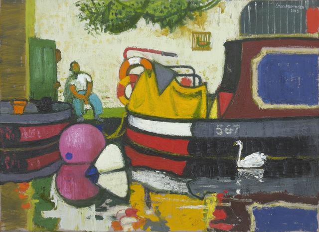 , 'Narrowboats, Paddington, II ,' 2018, John Martin Gallery