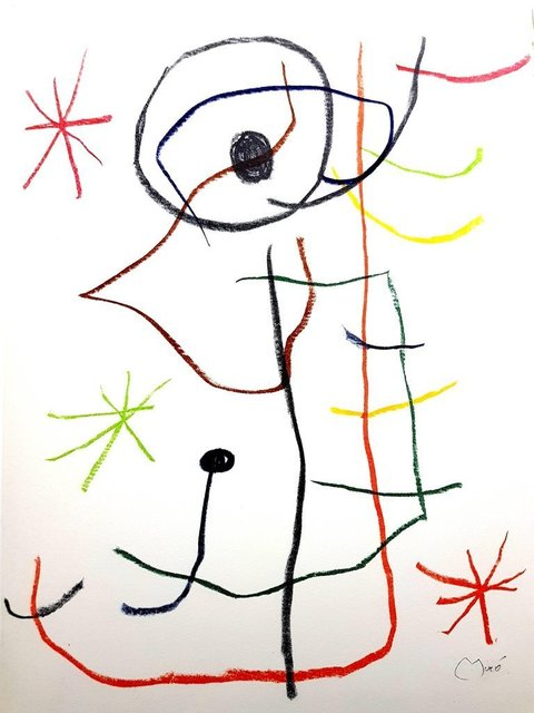 """Joan Miró, 'Original Lithograph """"Abstraction"""" by Joan Miro', 1965, Galerie Philia"""