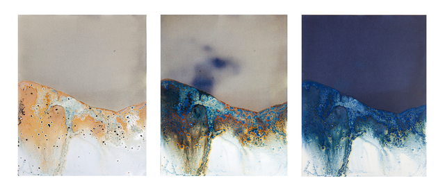 Meghann Riepenhoff, 'Littoral Drift Continuum #13 (Three Moments in Forty-eight Hours, Rodeo Beach, CA 07.21.13, One Wave, Poured)', 2013, Headlands Center for the Arts: Benefit Auction 2017