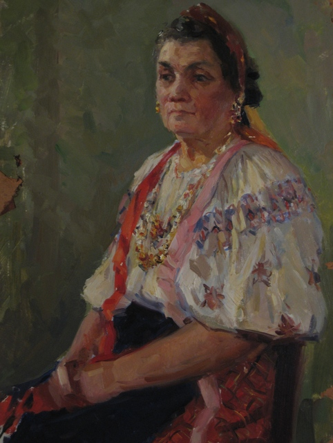 Aleksey Dmitrievich Potapov, 'Ukrainian woman', 1961, Surikov Foundation