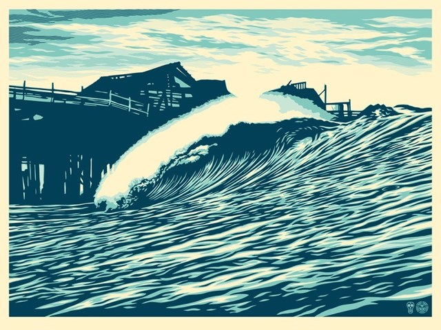 Shepard Fairey (OBEY), 'P.O.P WAVE (Blue) Shepard Fairey X Craig Stecyk III', 2016, Dope! Gallery