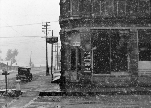 , 'Post Office Blizzard, Aspen, CO,' 1940, G. Gibson Gallery
