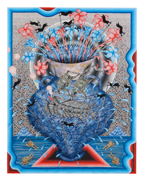 , 'Floating Vessels (Blue Landscape),' 2016, Joshua Liner Gallery