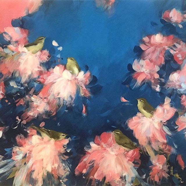 , 'Warblers in Pink Blossom Clouds,' 2019, Art5 Gallery