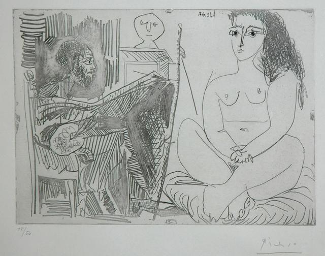 Pablo Picasso, 'Peintre et Modèle', 1964, DIE GALERIE