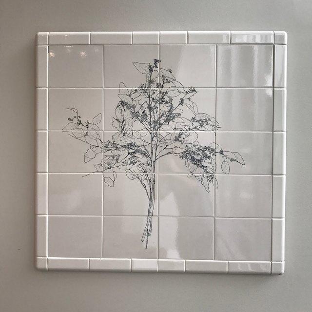 , 'Flower Tile #2,' 2015, InLiquid