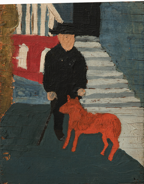 , 'Self Portrait with Dog,' n.d., Hollis Taggart