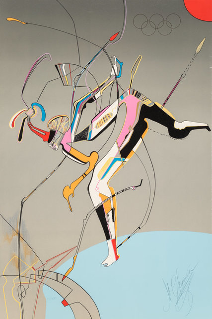 Mihail Chemiakin, 'Runner, from Official Arts Portfolio of the XXIVth Olympiad, Seoul, Korea', 1988, Heritage Auctions