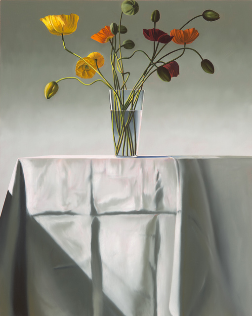 , 'Poppies on Tablecloth,' 2017, Leslie Sacks Gallery