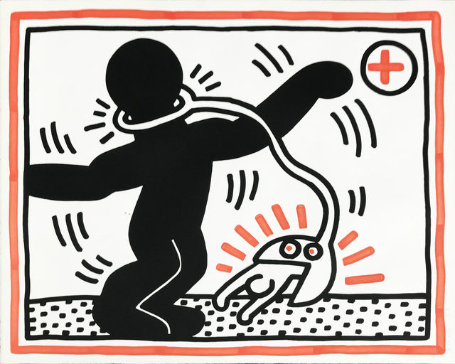Keith Haring, 'Untitled #1, from Free South Africa', 1985, Print, Lithograph, Hamilton-Selway Fine Art
