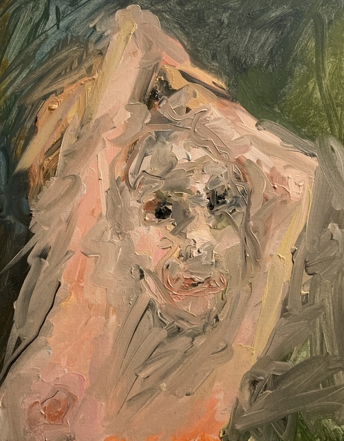 Eva Beresin, 'One of those terrifying moments', 2020, Painting, Oil on cardboard, Charim Galerie