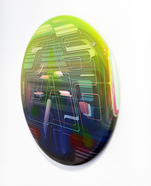 Francesco Lo Castro, 'Alpha Skygate', 2017, Painting, Acrylic, spray enamel and layered epoxy resin on wood, Duane Reed Gallery
