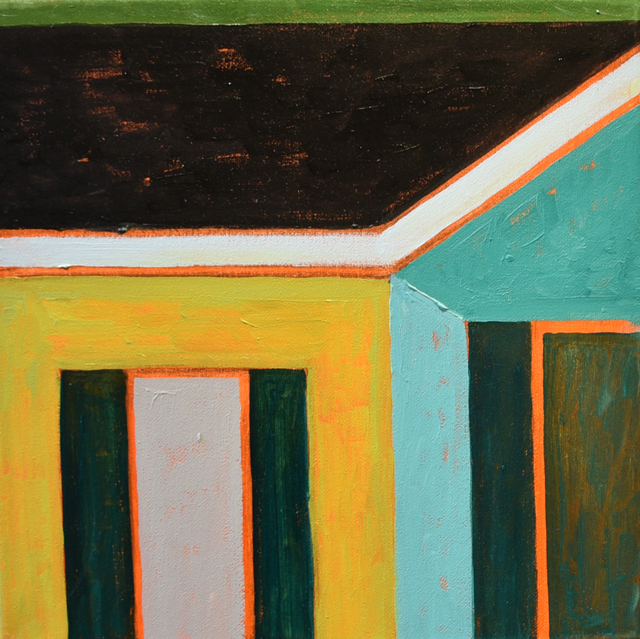 , 'Green House Corner 1,' 2018, Carter Burden Gallery