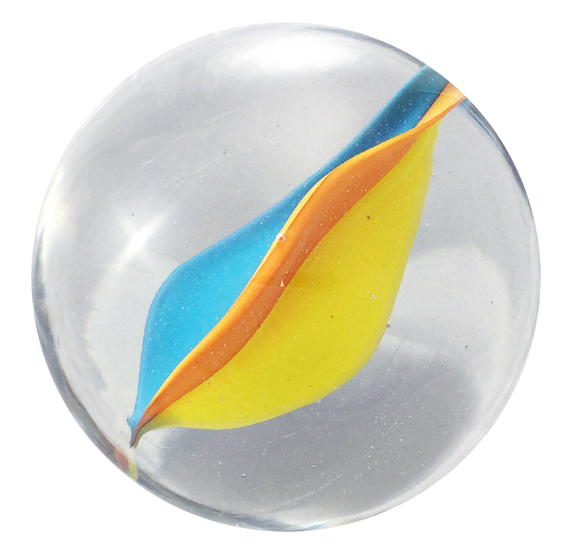 , 'Glass marble Nr. 55, Orange, Canary Yellow, Water Blue,' 2016, OSME Gallery