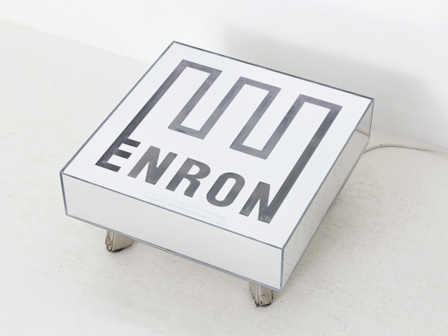 , '*rare* ENRON Coffee Table Used Mirror Table,' 2017, Fisher Parrish Gallery
