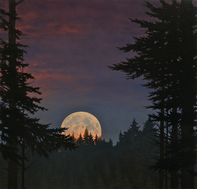 , 'Moonrise with Pink,' , Dowling Walsh
