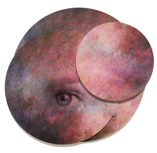 , 'Collage of Eye in Circles: 'Whispers from the Cosmos #4',' 2018, Ivy Brown Gallery