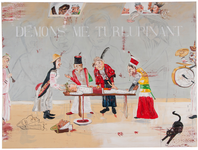 , 'Thinking of Ensor and My Cat Diego,' 2009, Anglim Gilbert Gallery