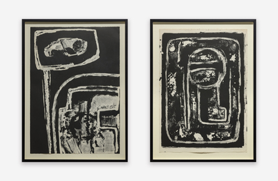 Two Works: i) Untitled - Printers Proof II; ii) Untitled (May 10 - 23, 1963)