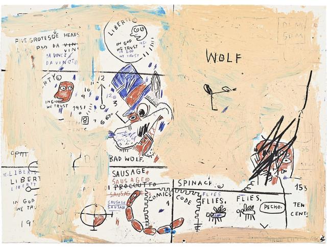 Jean-Michel Basquiat, 'Wolf Sausage', 2019, DANE FINE ART