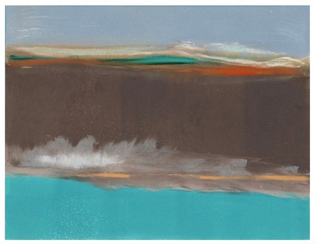, 'Teal Distant,' 2017, AS Artists Studios