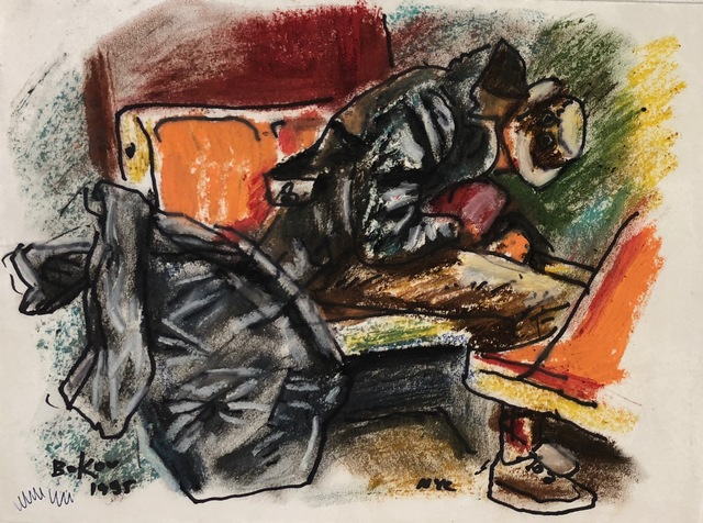 , 'Subway with Big Bag,' 1995, Van Der Plas Gallery