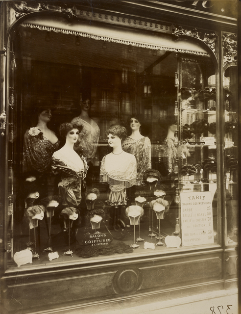 , 'Hairdresser's Shop Window, boulevard de Strasbourg,' 1912, J. Paul Getty Museum