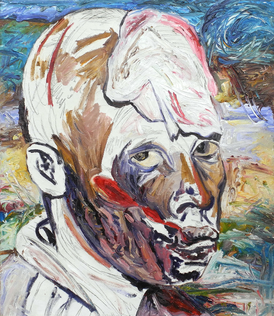 , 'First Eye Witness - Emacule with Machete Slashes,' 1995, Charles Nodrum Gallery