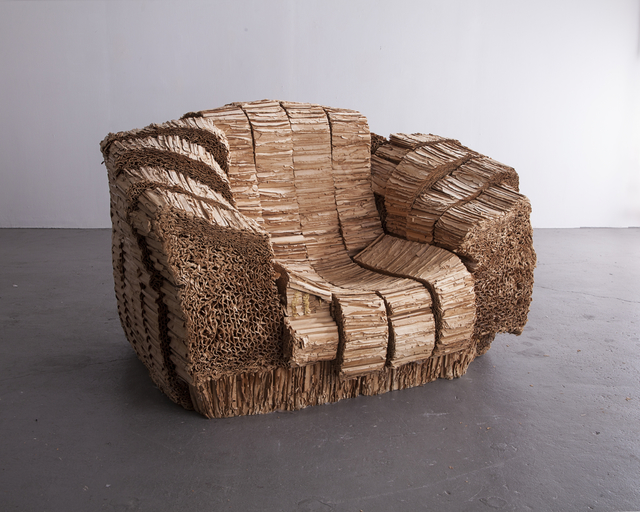 ", '""Big Beaver"" armchair. Designed by Frank Gehry, 1987, produced by Vitra since 1994.,' 1987, R & Company"
