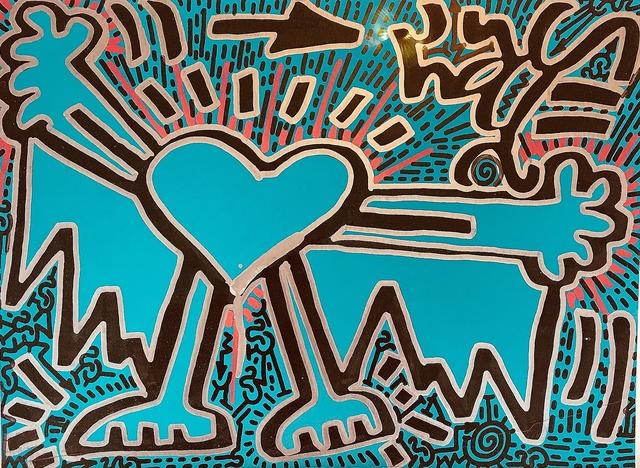 LA II (Angel Oritz), 'Untitled (Turquoise Heart)', 2018, Lawrence Fine Art